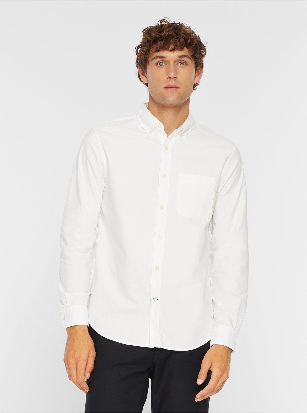 클럽 모나코 맨 옥스포드 솔리드 셔츠 Club Monaco Oxford Solid Shirt,White