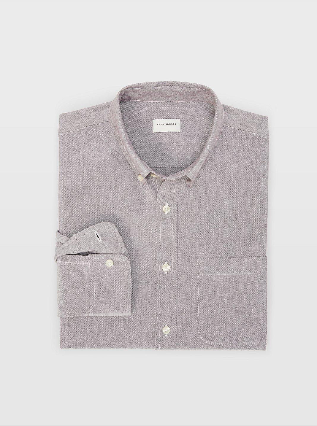 클럽 모나코 Club Monaco Oxford Solid Shirt,Purple