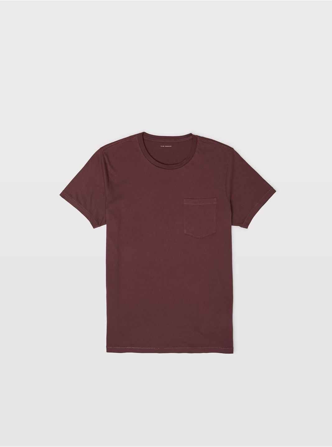클럽 모나코 Club Monaco Williams Garment-Dyed Crew,Mulberry