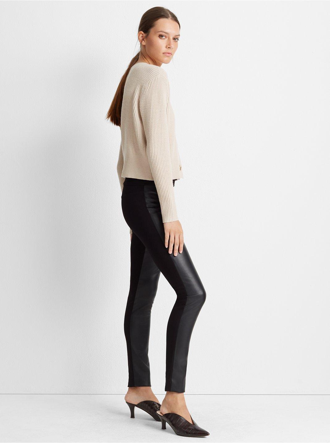 클럽 모나코 레깅스 Club Monaco Tasha Faux Leather Legging,Black