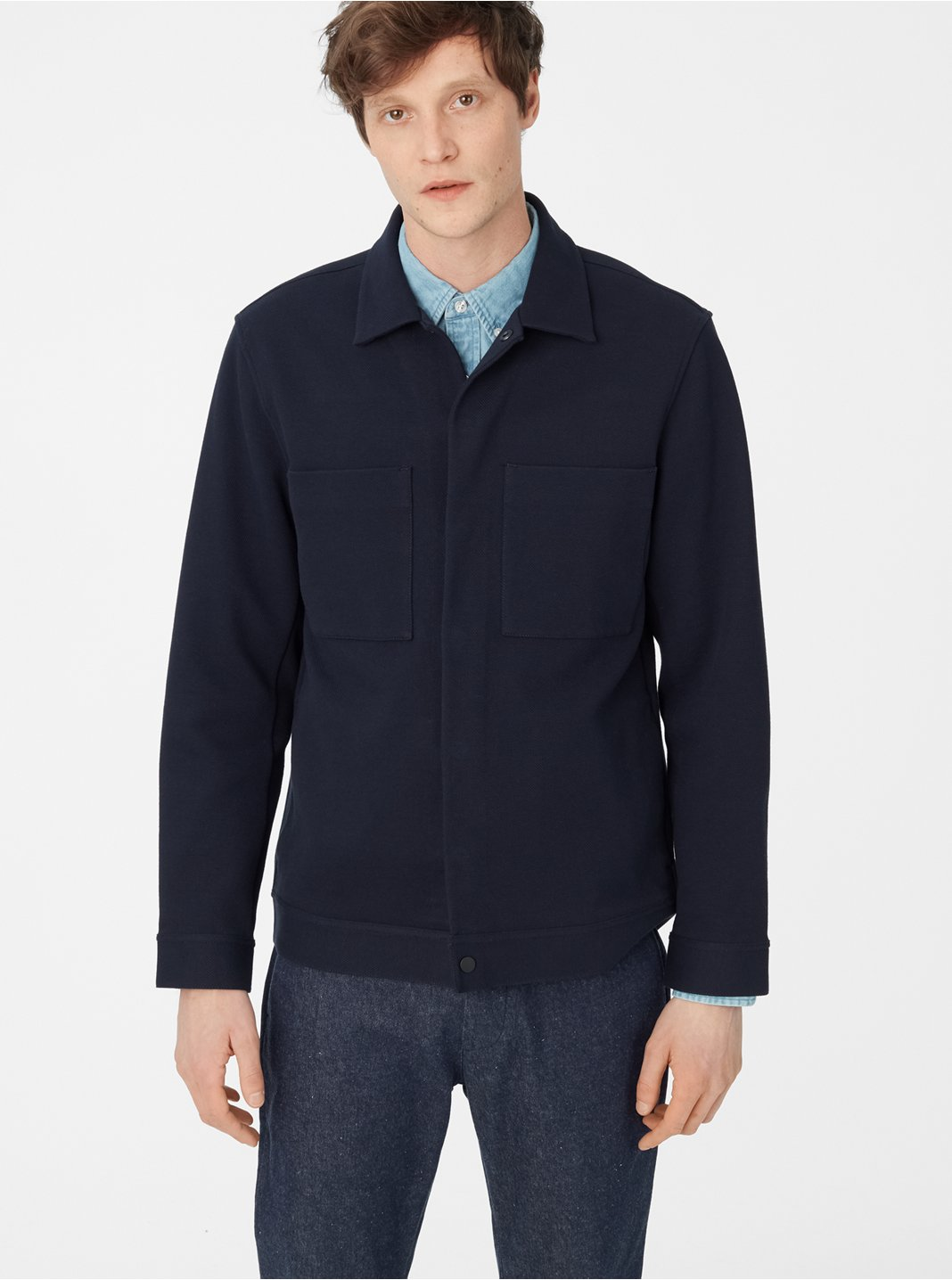 클럽 모나코 Club Monaco Twill Workwear Jacket,Midnight Navy