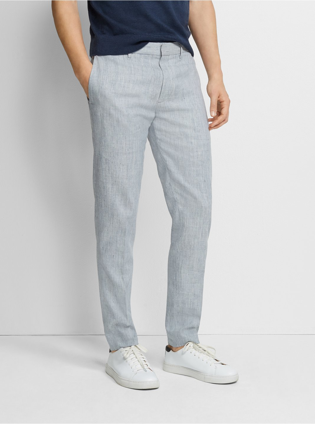 클럽 모나코 Club Monaco Sutton Linen-Blend Dress Pant,Light Blue