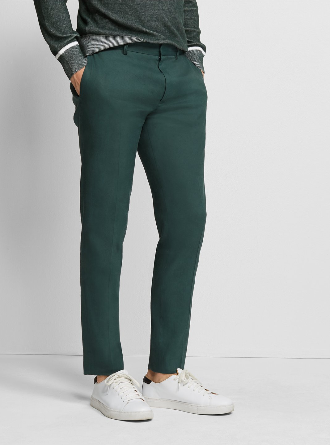 클럽 모나코 Club Monaco Sutton Linen-Blend Dress Pant,Green