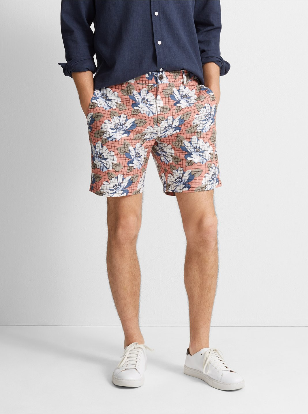 클럽 모나코 Club Monaco Baxter 7 Hatch Floral Short,Grapefruit