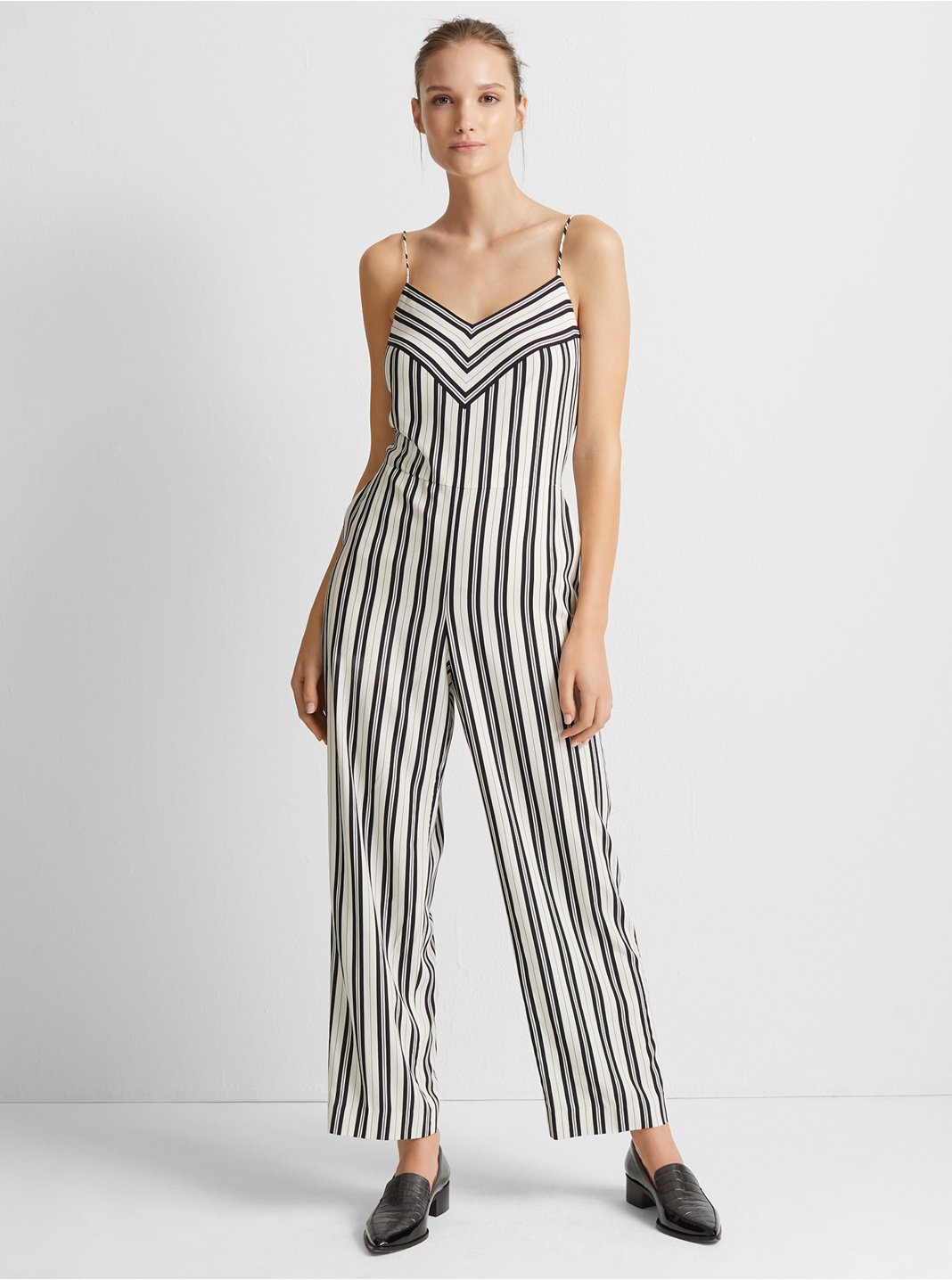 클럽 모나코 Club Monaco Bar Stripe Jumpsuit,White