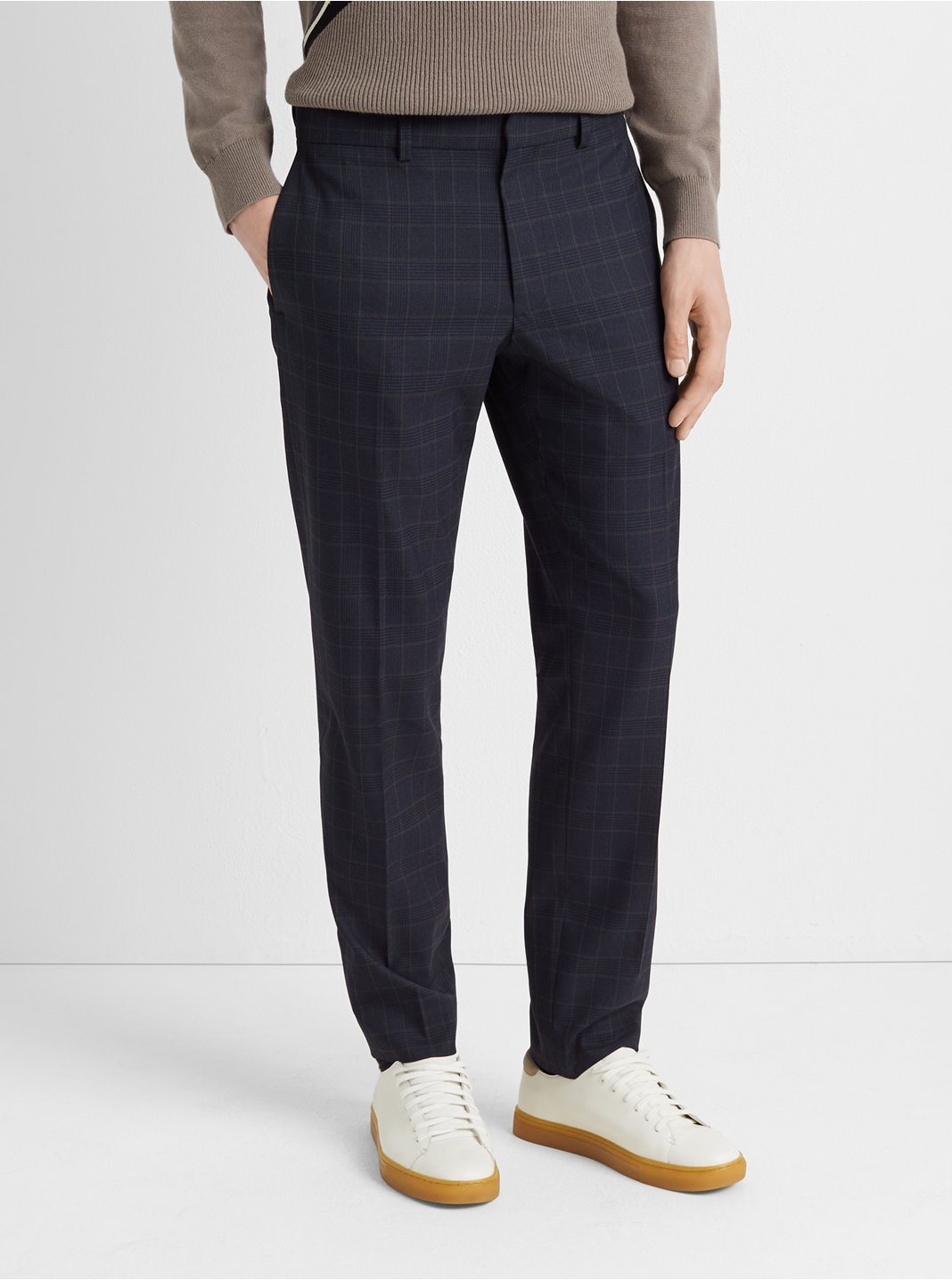클럽 모나코 바지 Club Monaco Sutton Plaid Dress Pant,Navy Multi