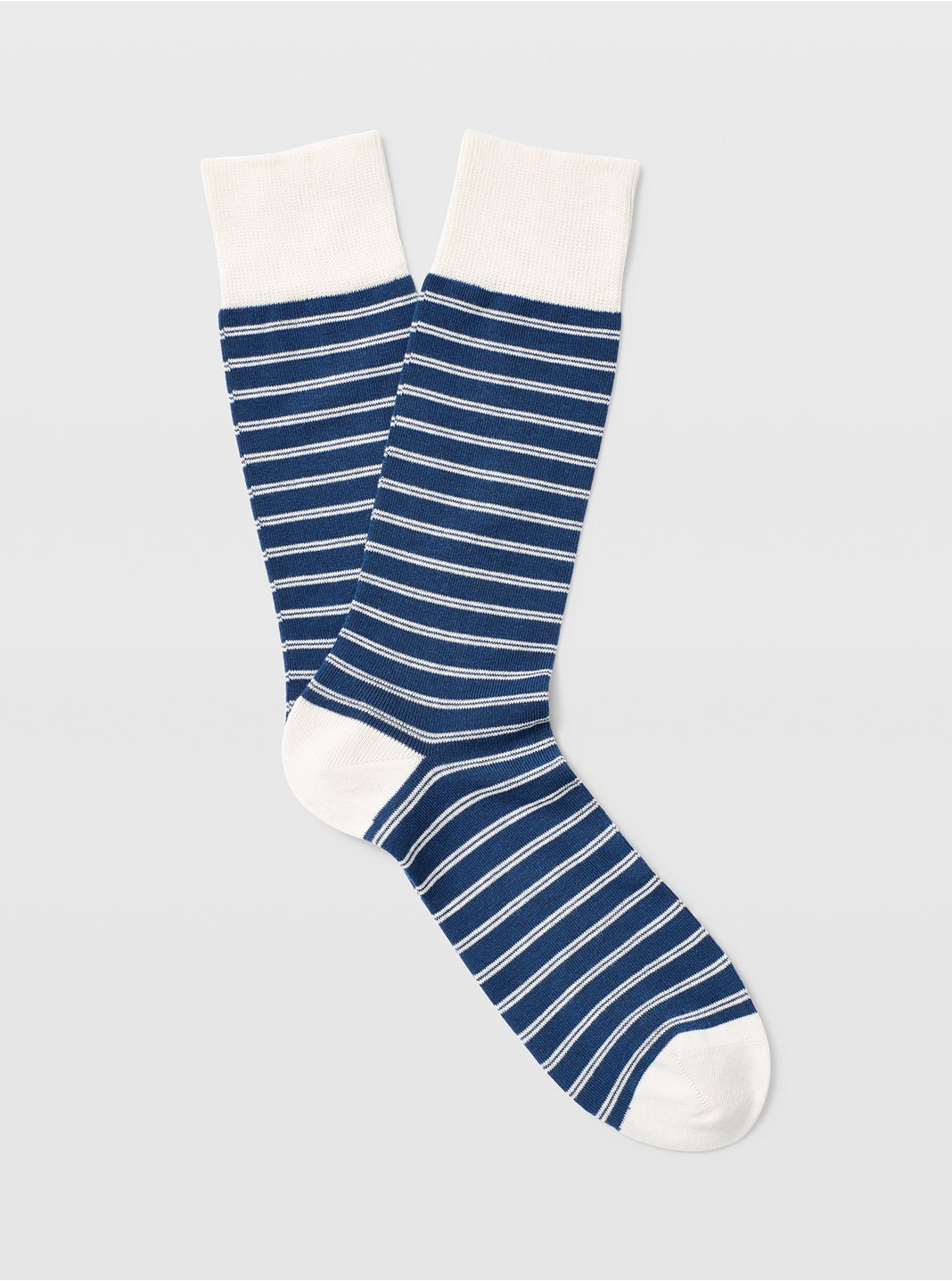 클럽 모나코 양말 Club Monaco Double Striped Sock,Blue/White