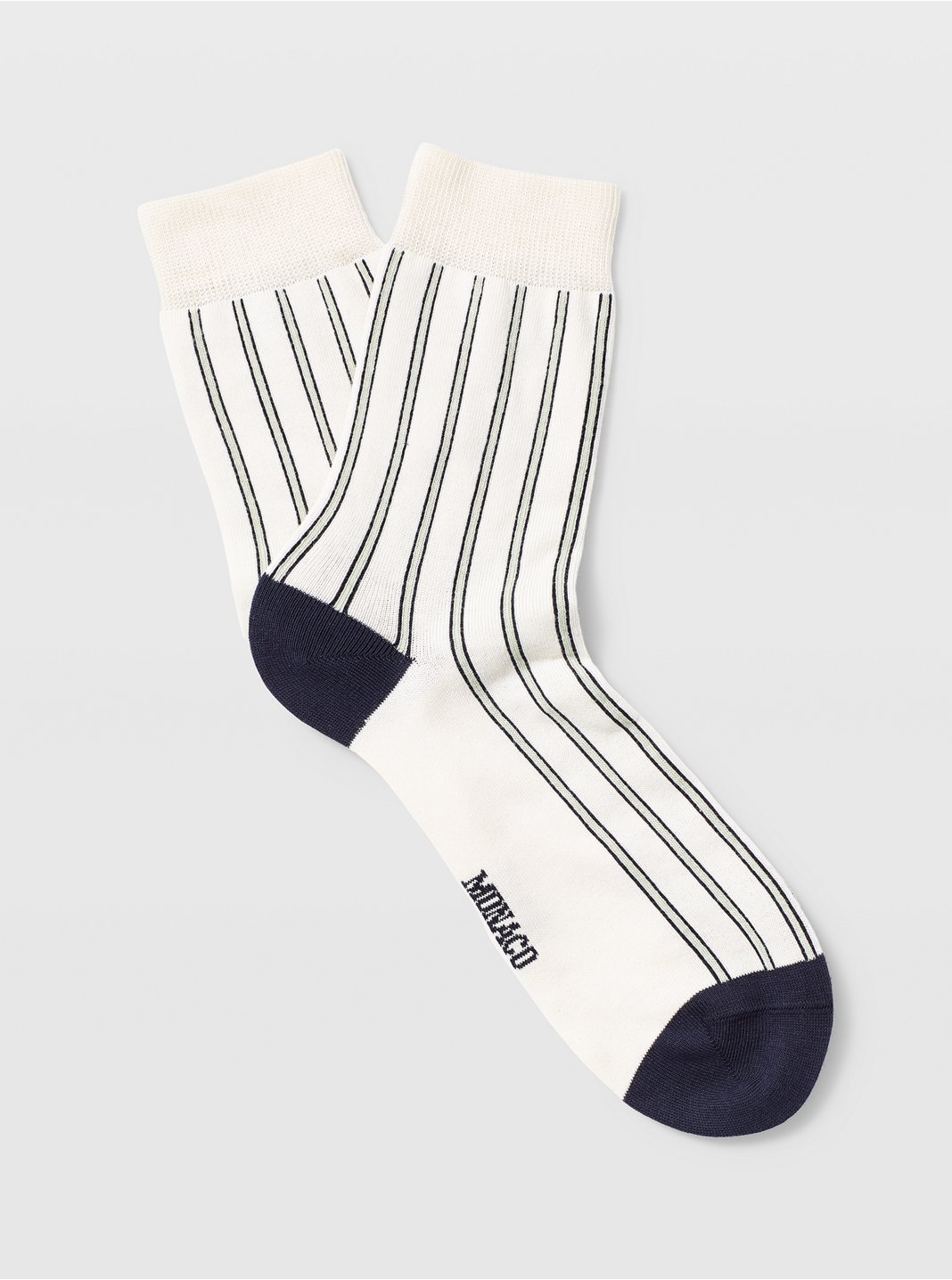 클럽 모나코 양말 Club Monaco Vertical Stripe Sock,White Multi