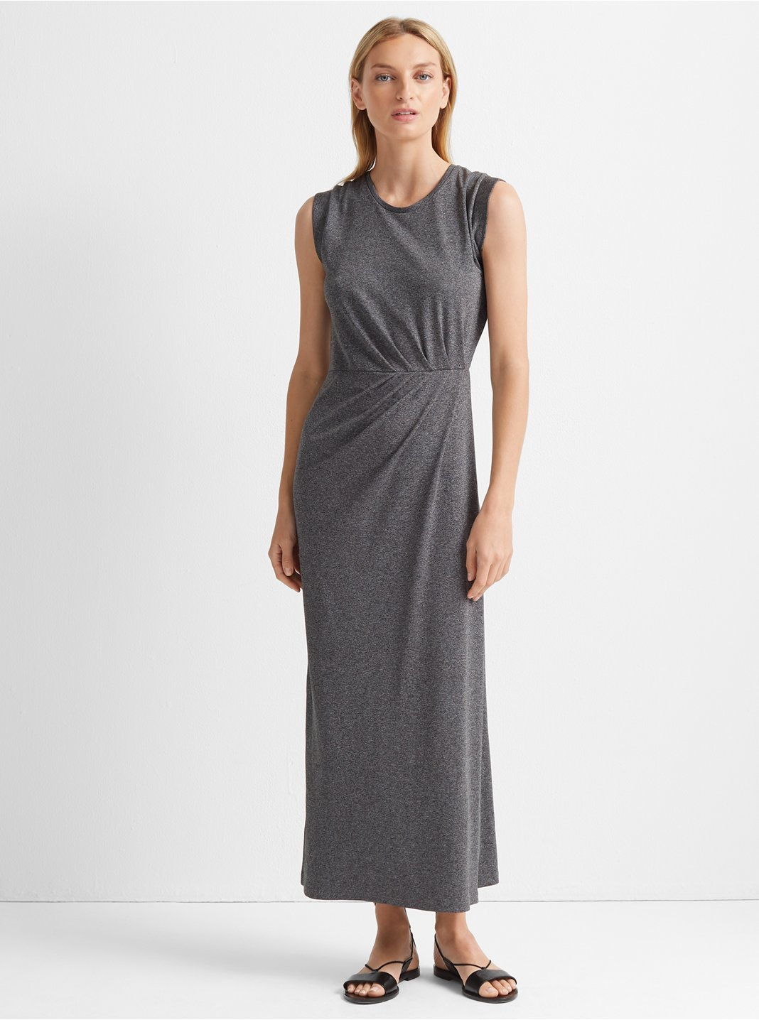 클럽 모나코 Club Monaco Knit Maxi Dress,Heather Grey