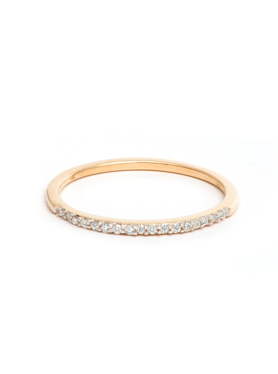 Adina Reyter Y Gold Pave Ring