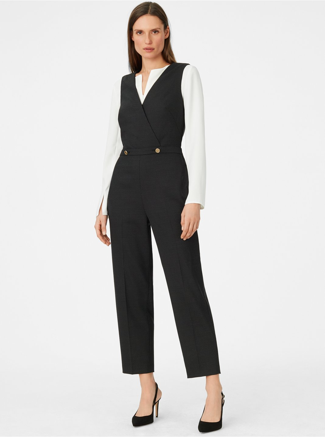 Dorotheah Pin-Dot Jumpsuit