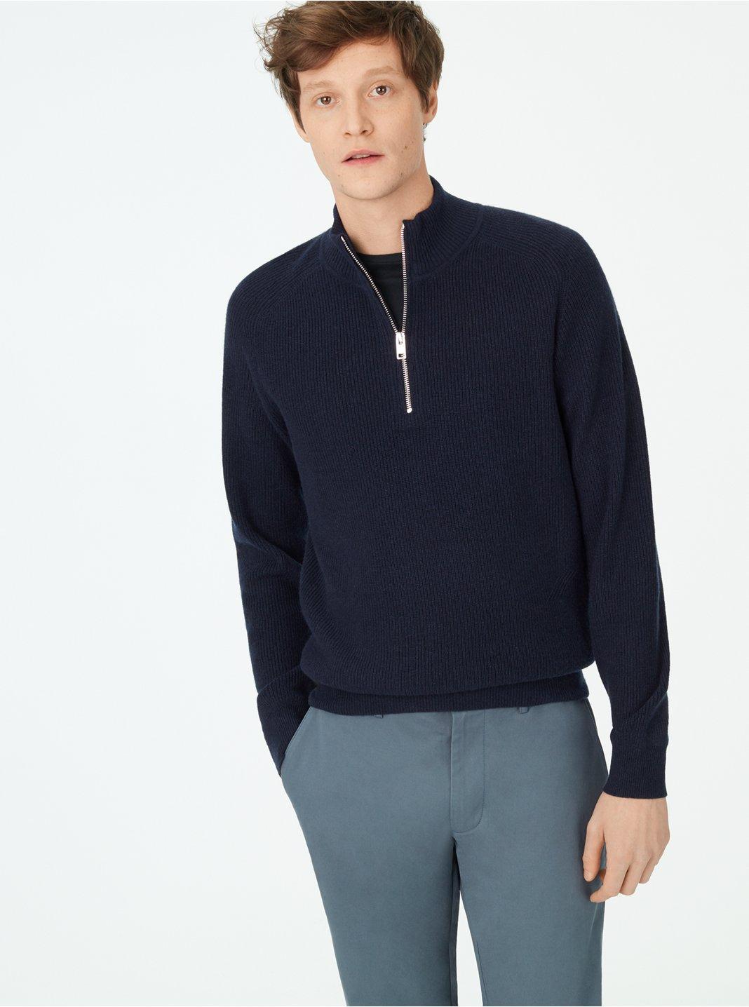 Cashmere Quarter-Zip Sweater