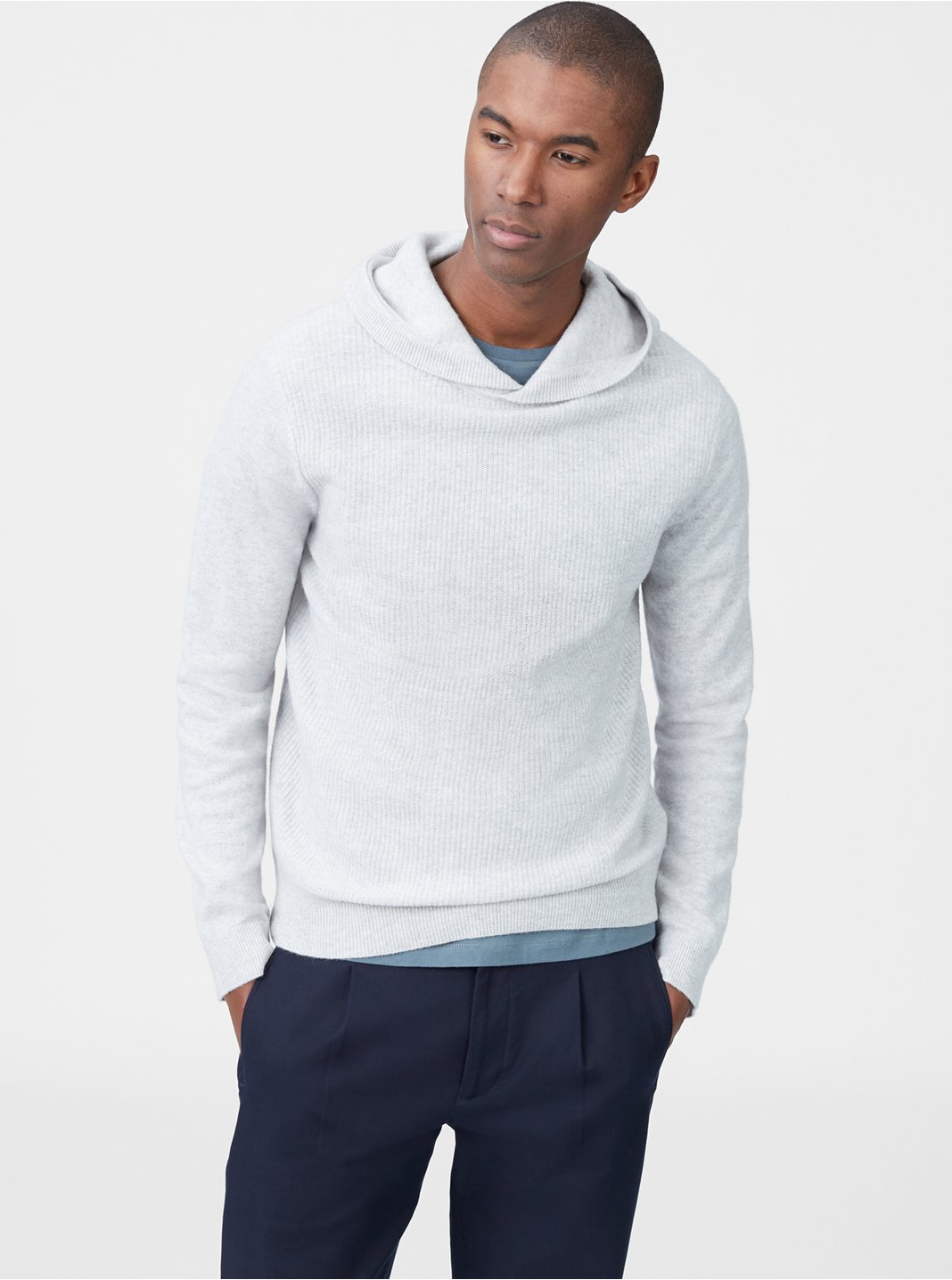 Cashmere Ribbed Hoodie