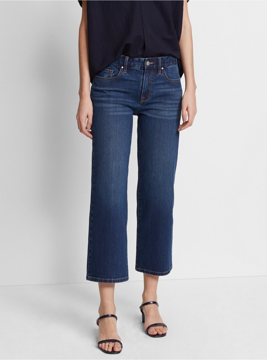 Leileh Straight Crop Denim