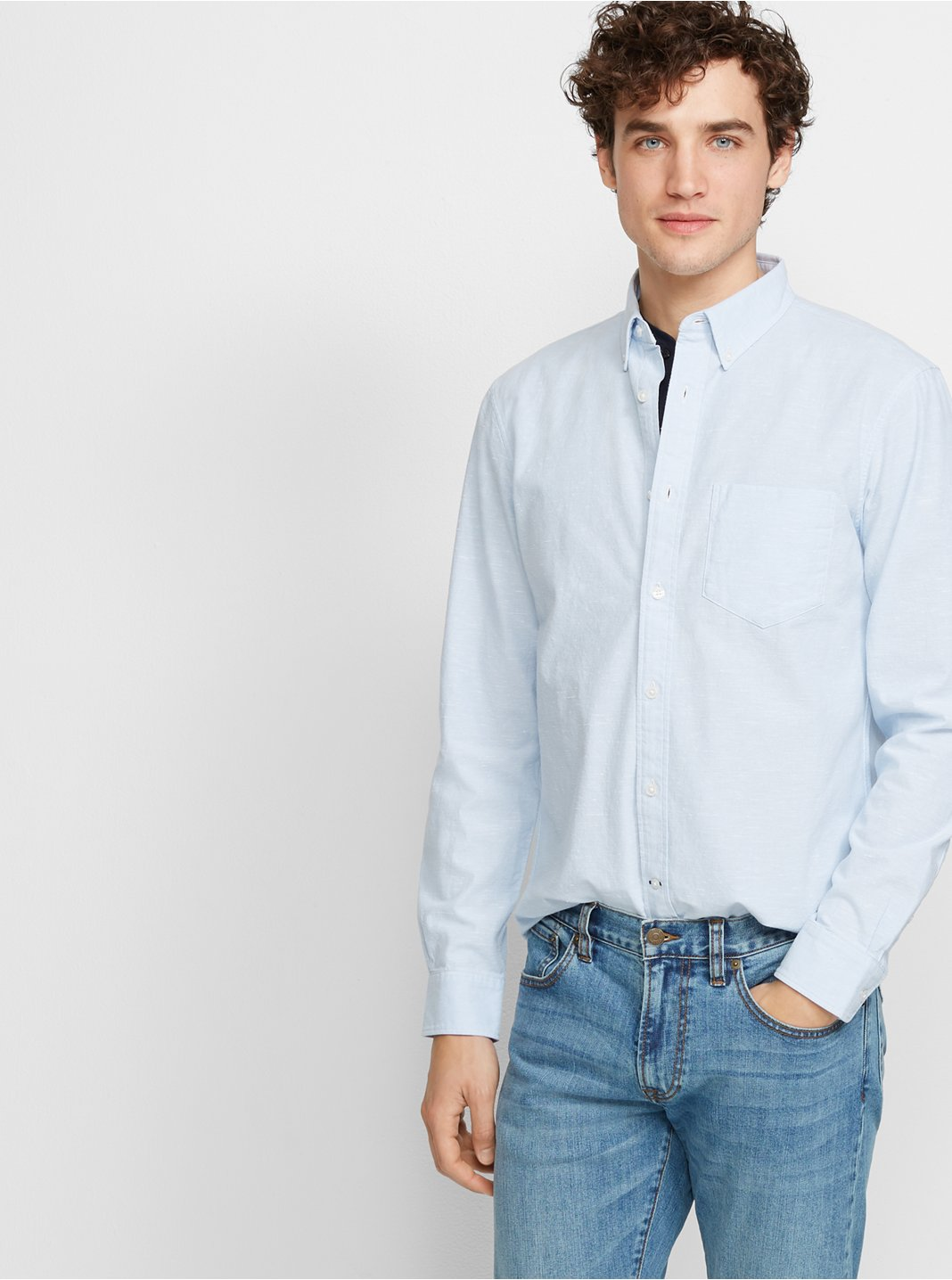 Slim Slub Chambray Shirt