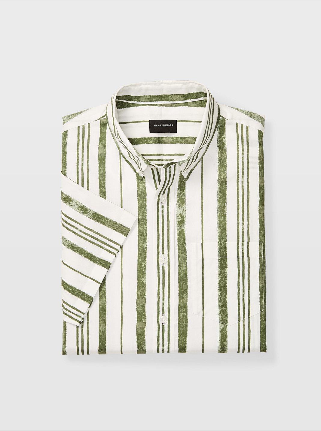 Slim Short-Sleeve Stripe Shirt
