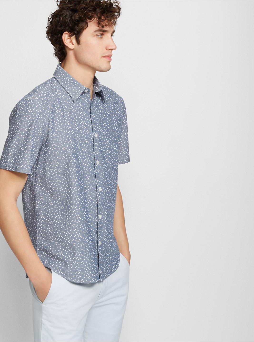 Slim Short-Sleeve Agave Shirt