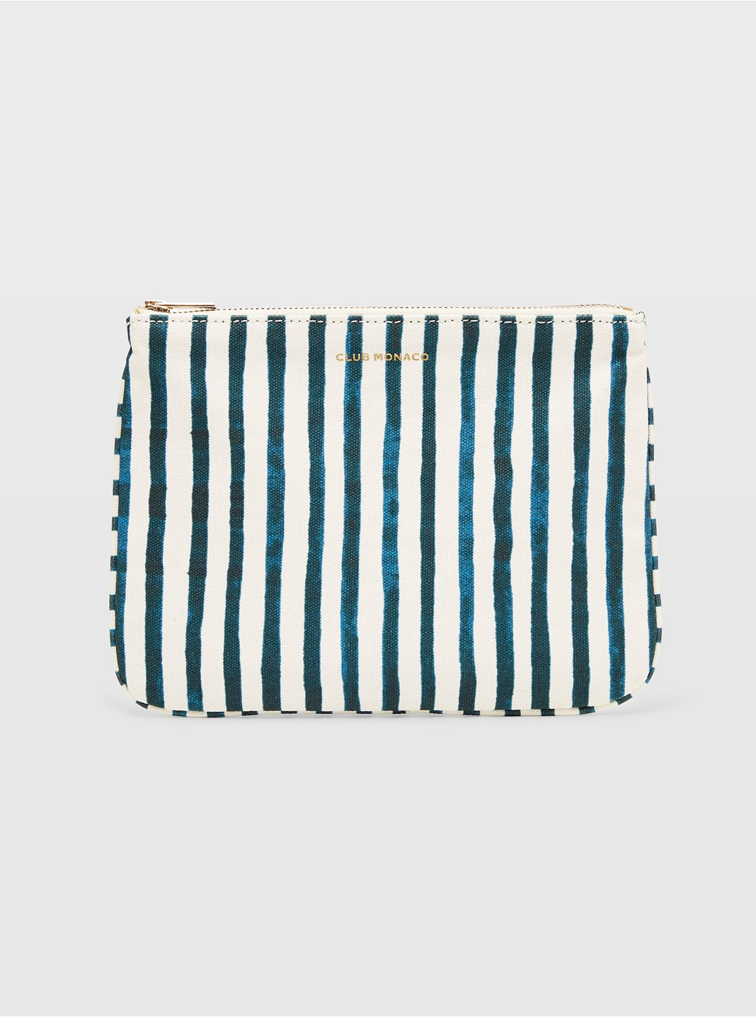 CM Striped Canvas Logo Pouch