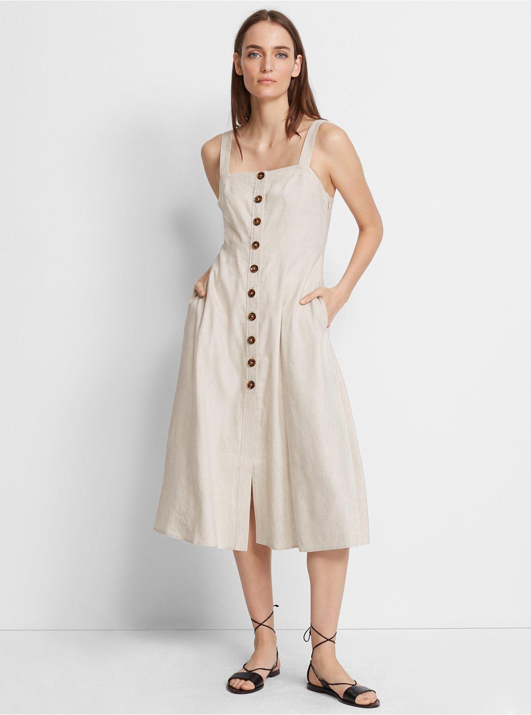 Piqua Linen Dress