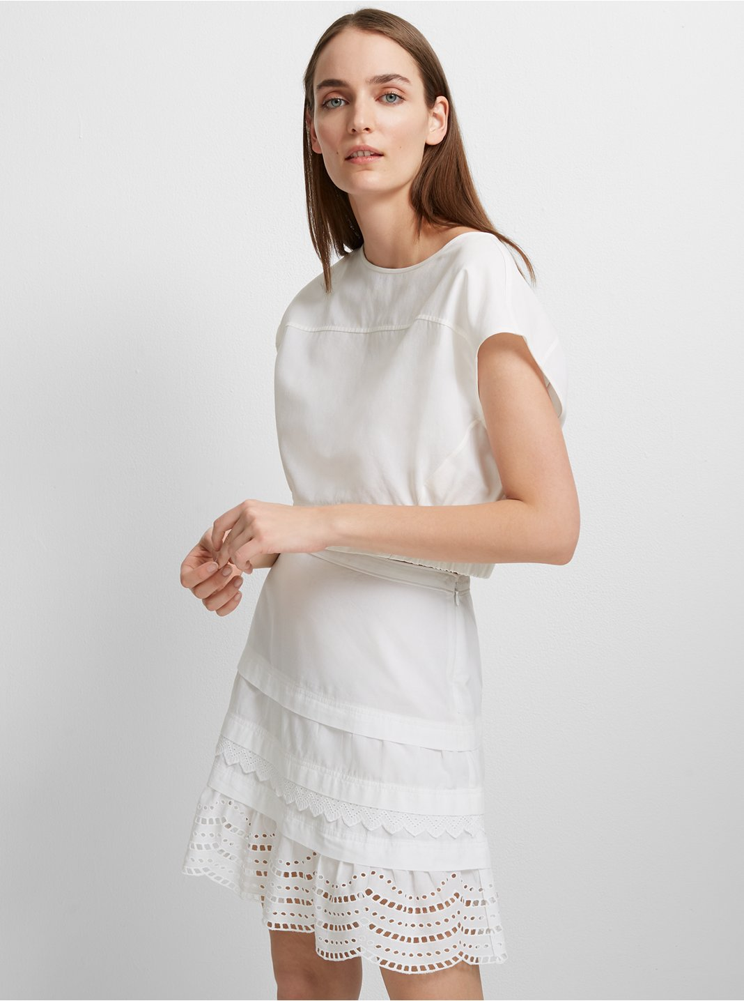 Lettee Cotton Skirt