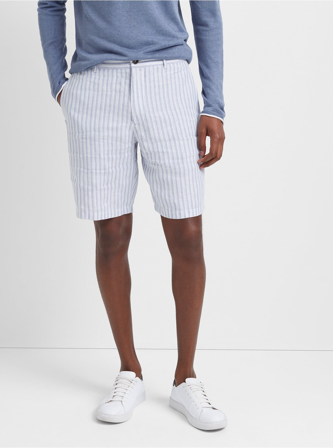 "Maddox 9"" Linen Stripe Short"