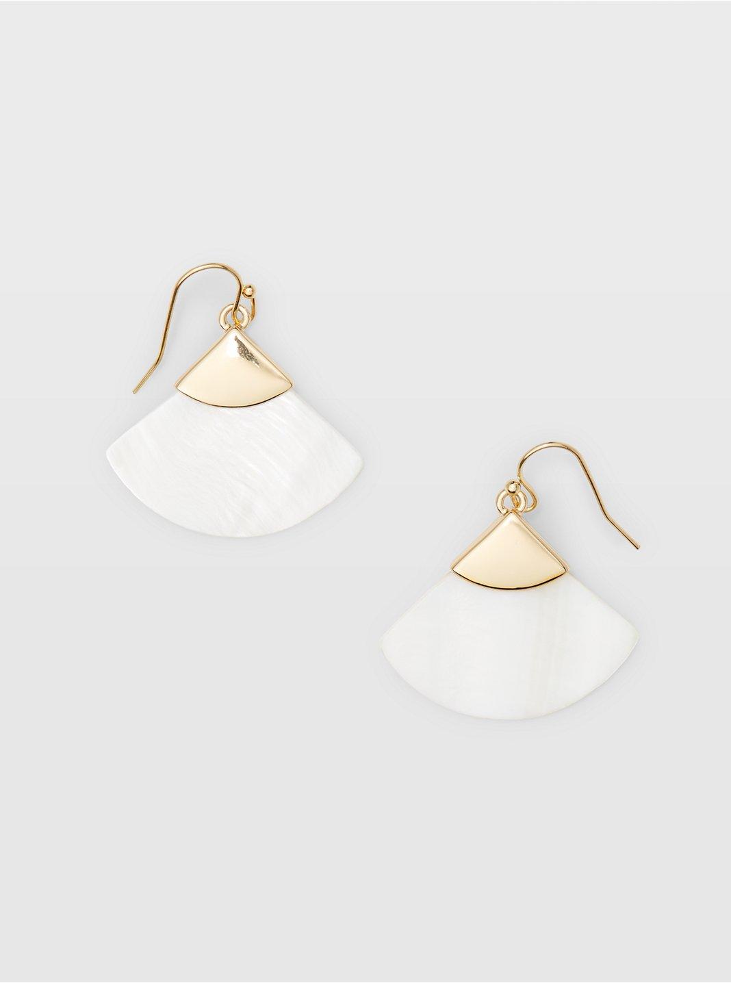 Pearl Fan Earring