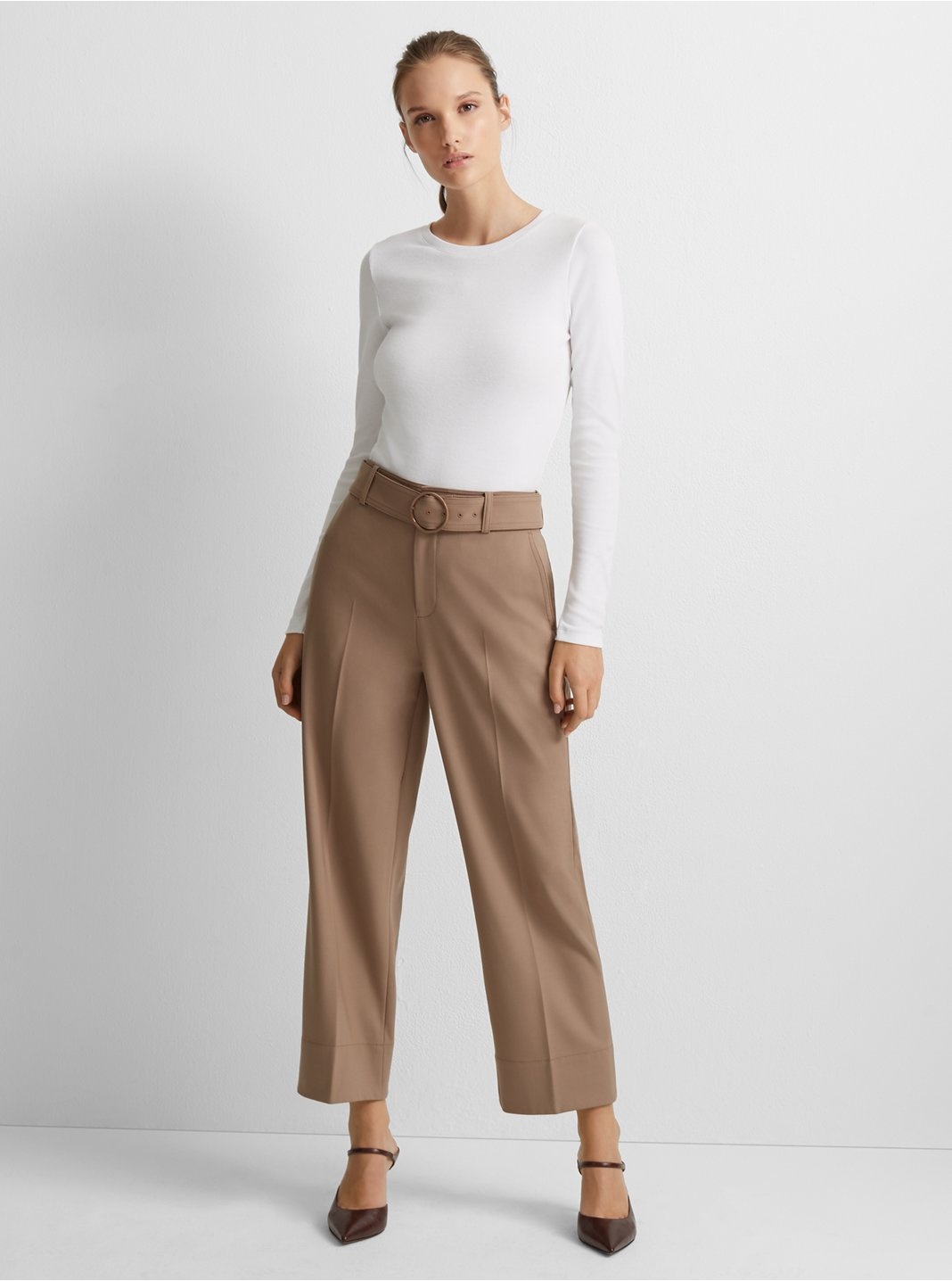Belted Wool Pant