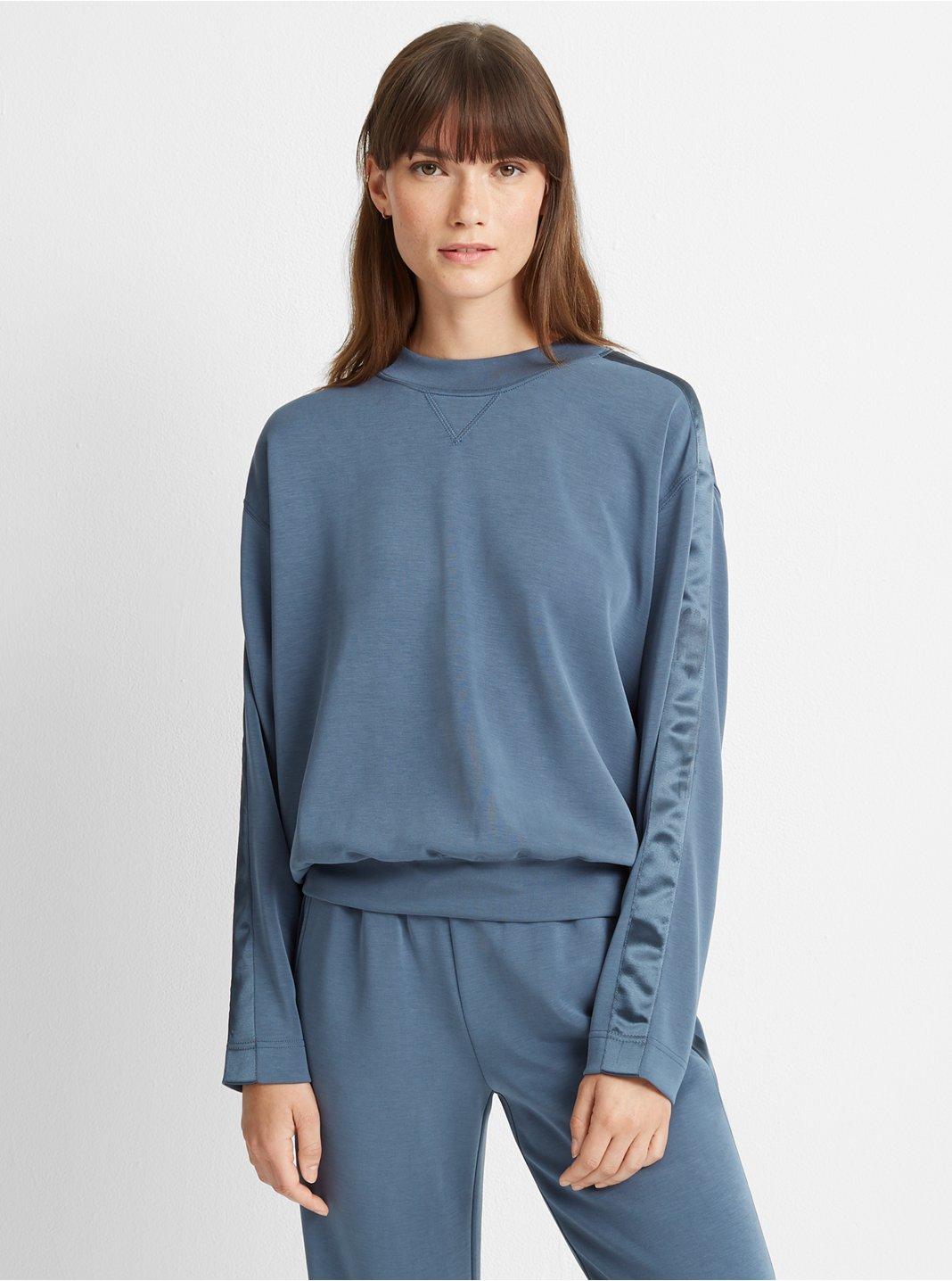 Satin Stripe Sweatshirt