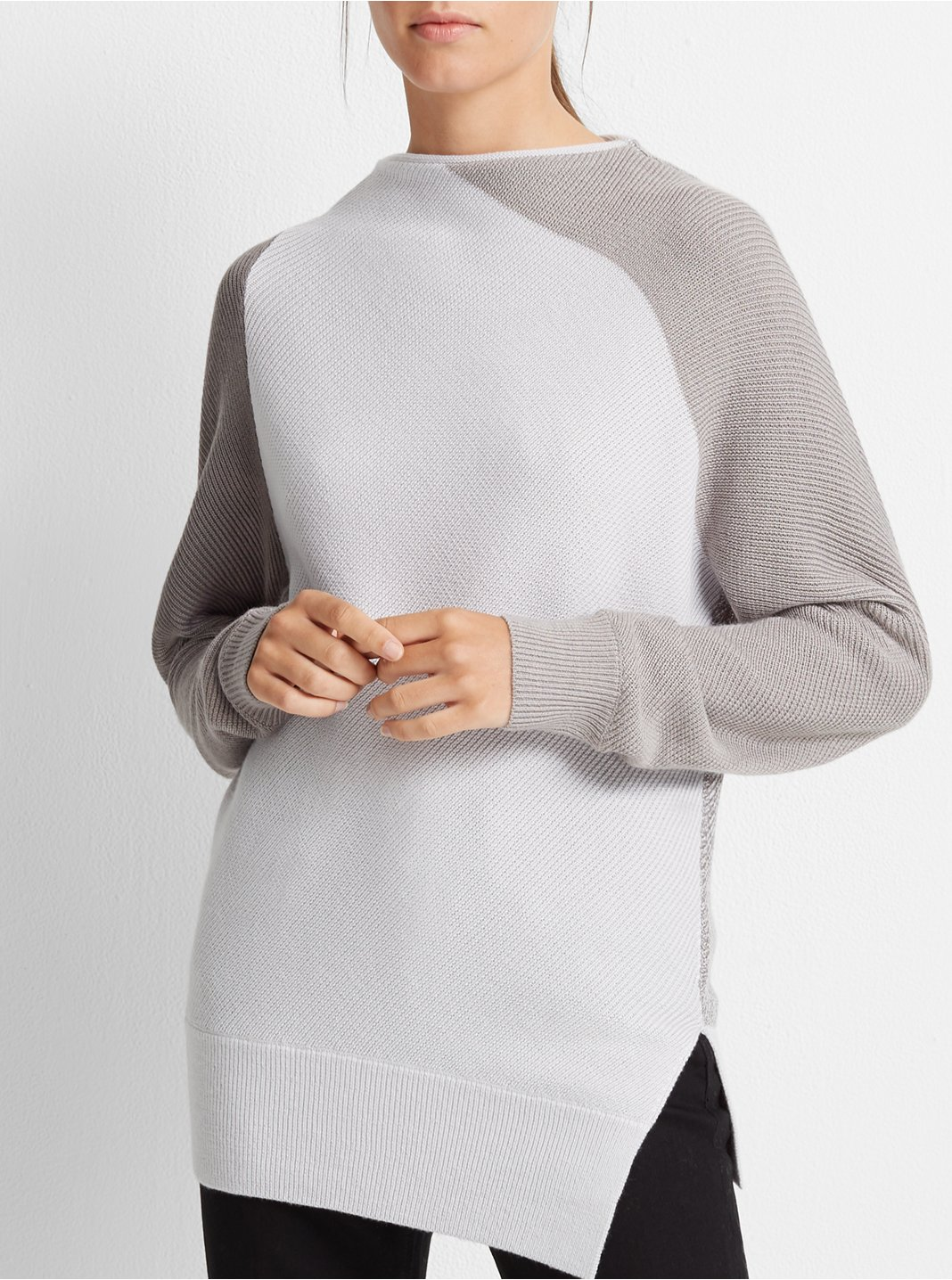 Asymmetrical Mockneck Sweater