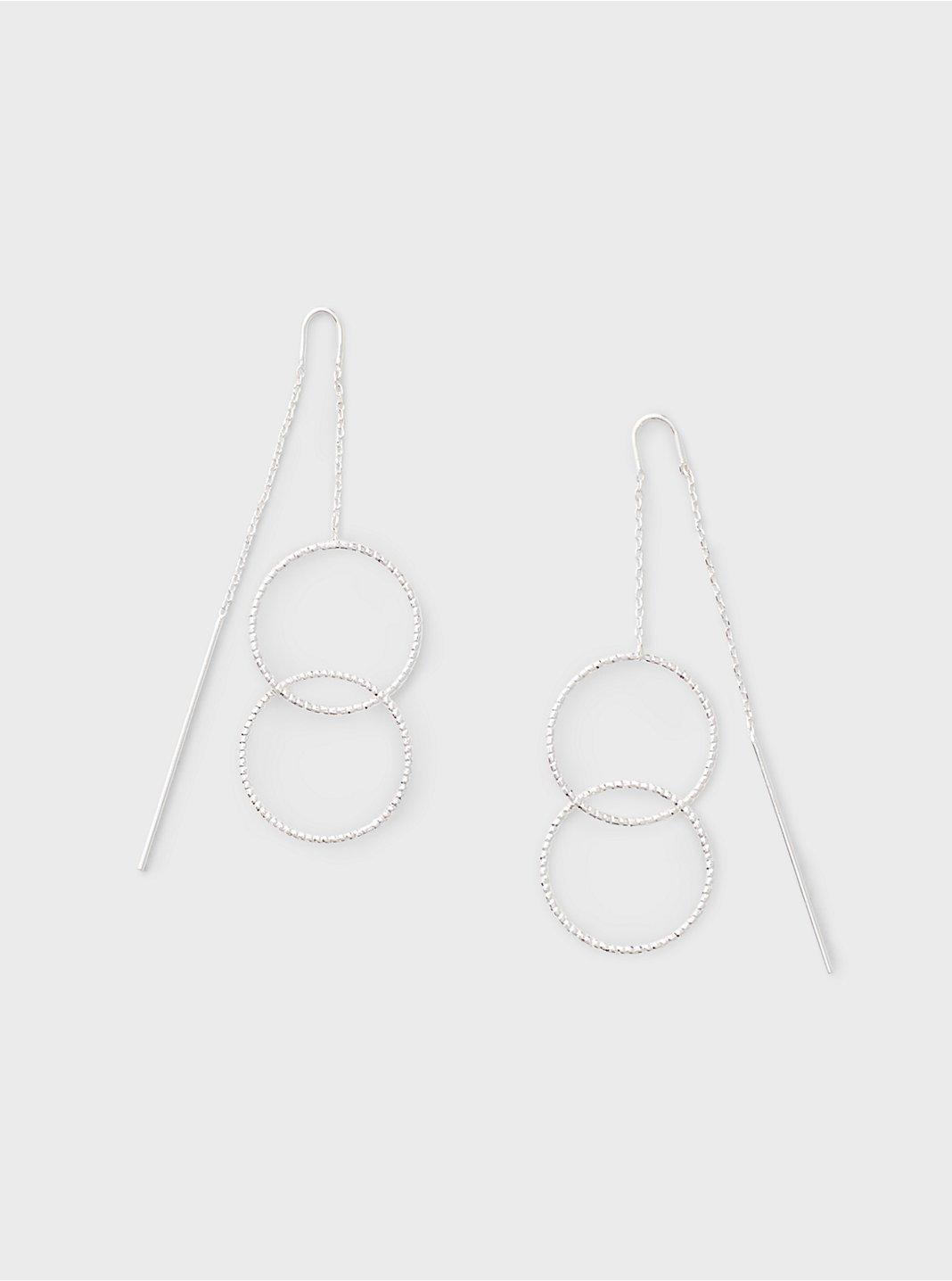 Double Circle Threader Earring
