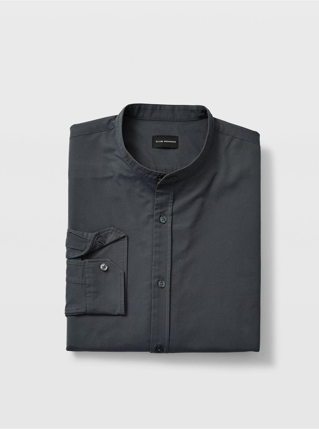 Slim Band Collar Shirt