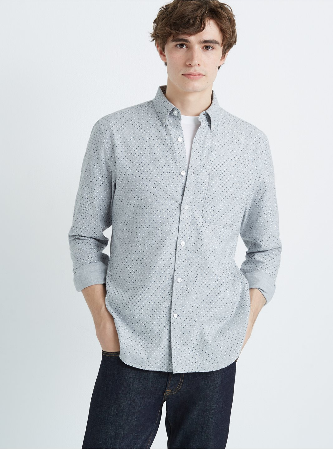 Slim Canyon Dot Flannel Shirt