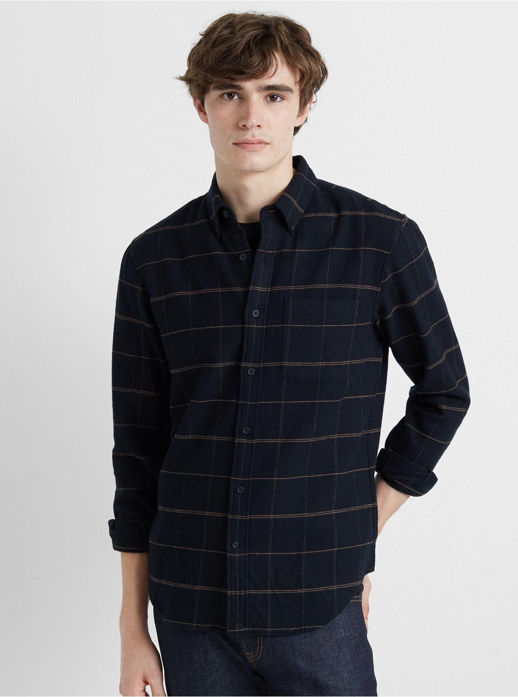 Slim Heavyweight Flannel Shirt