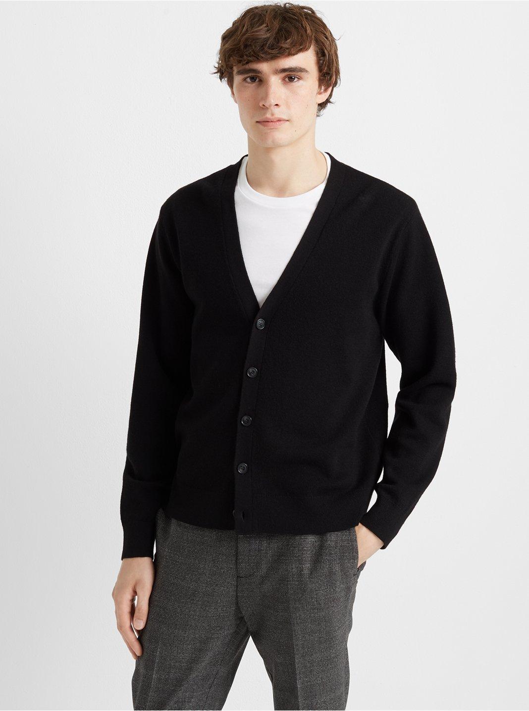 Merino Wool V-Neck Cardigan