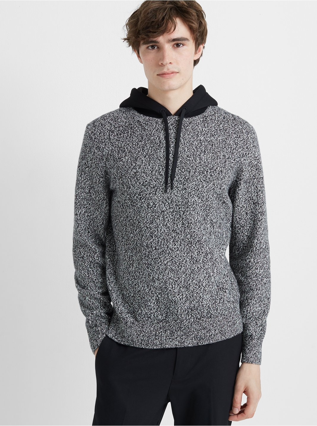 Mixed Material Hoodie