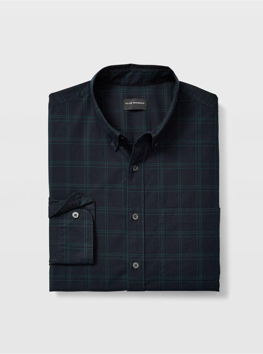 Slim Windowpane Shirt