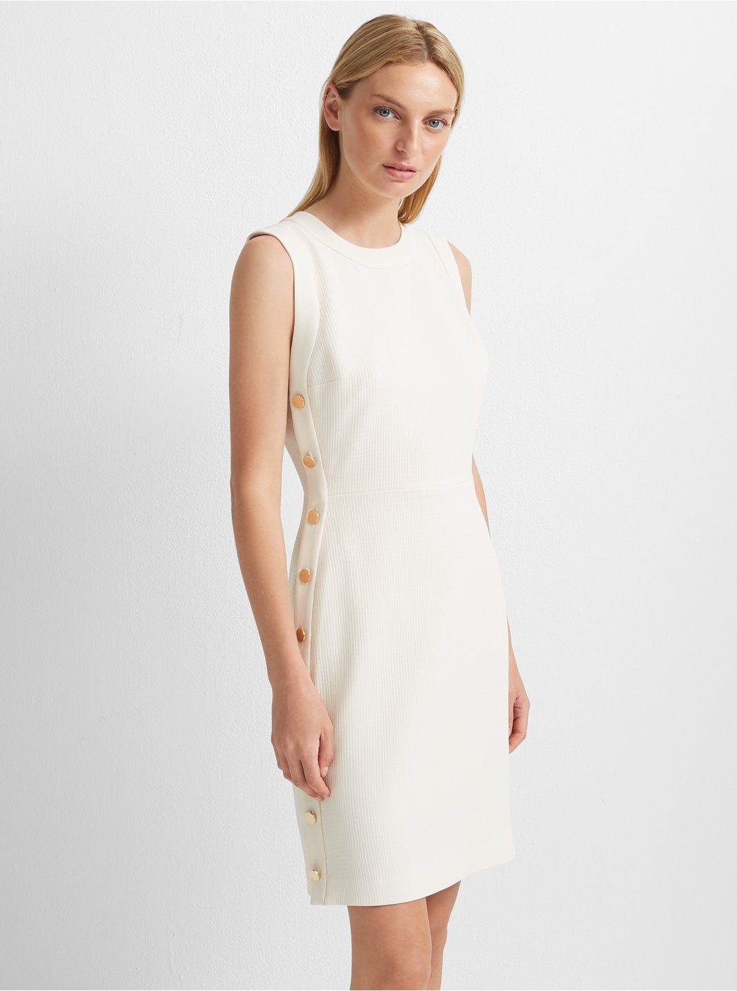 Button Sheath Dress