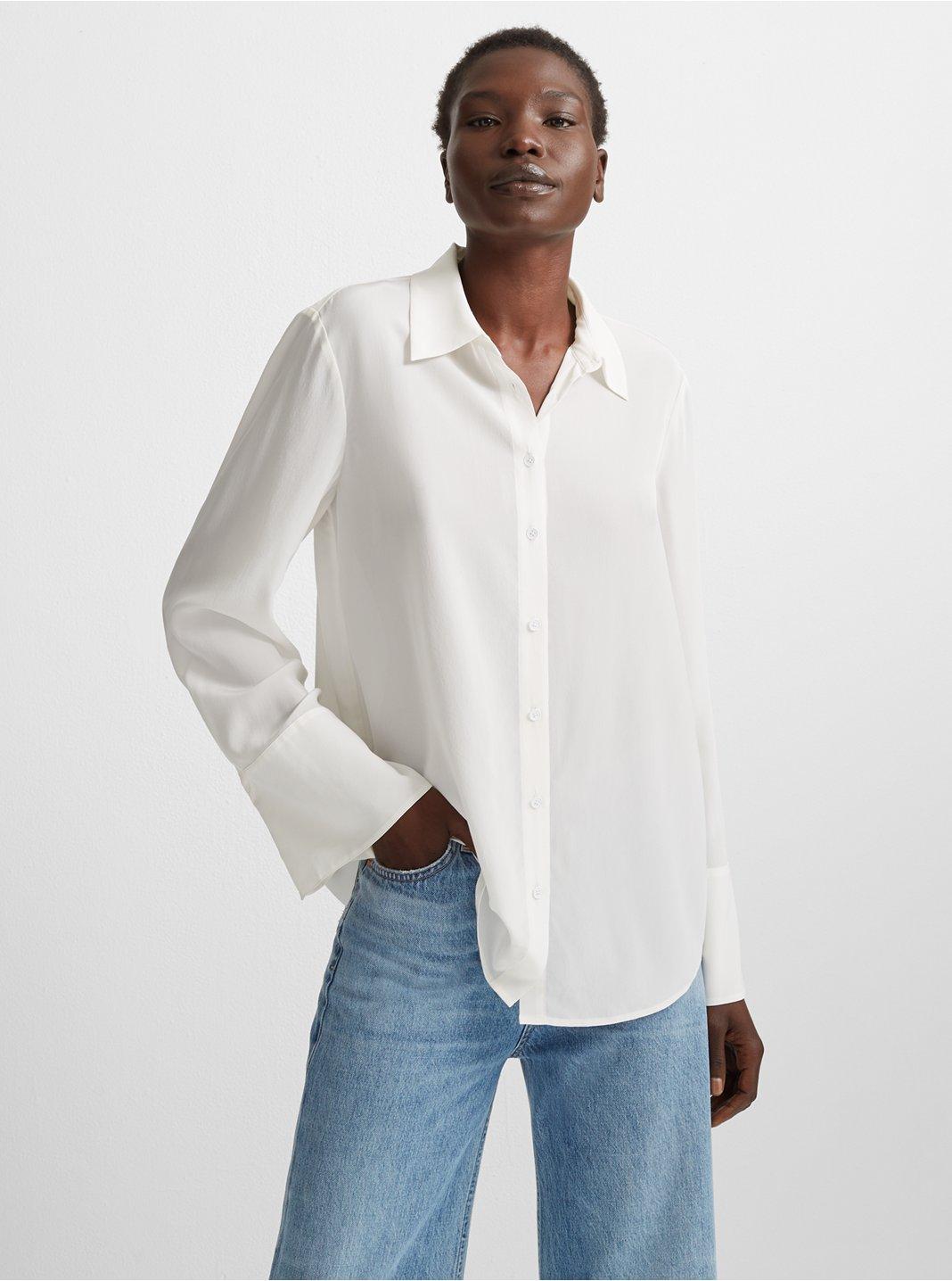 Bell Cuff Silk Shirt