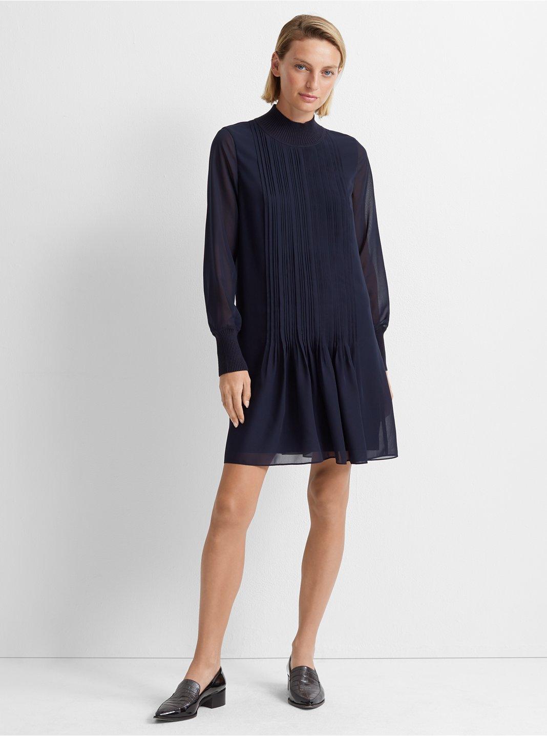 Pintuck Rib Dress