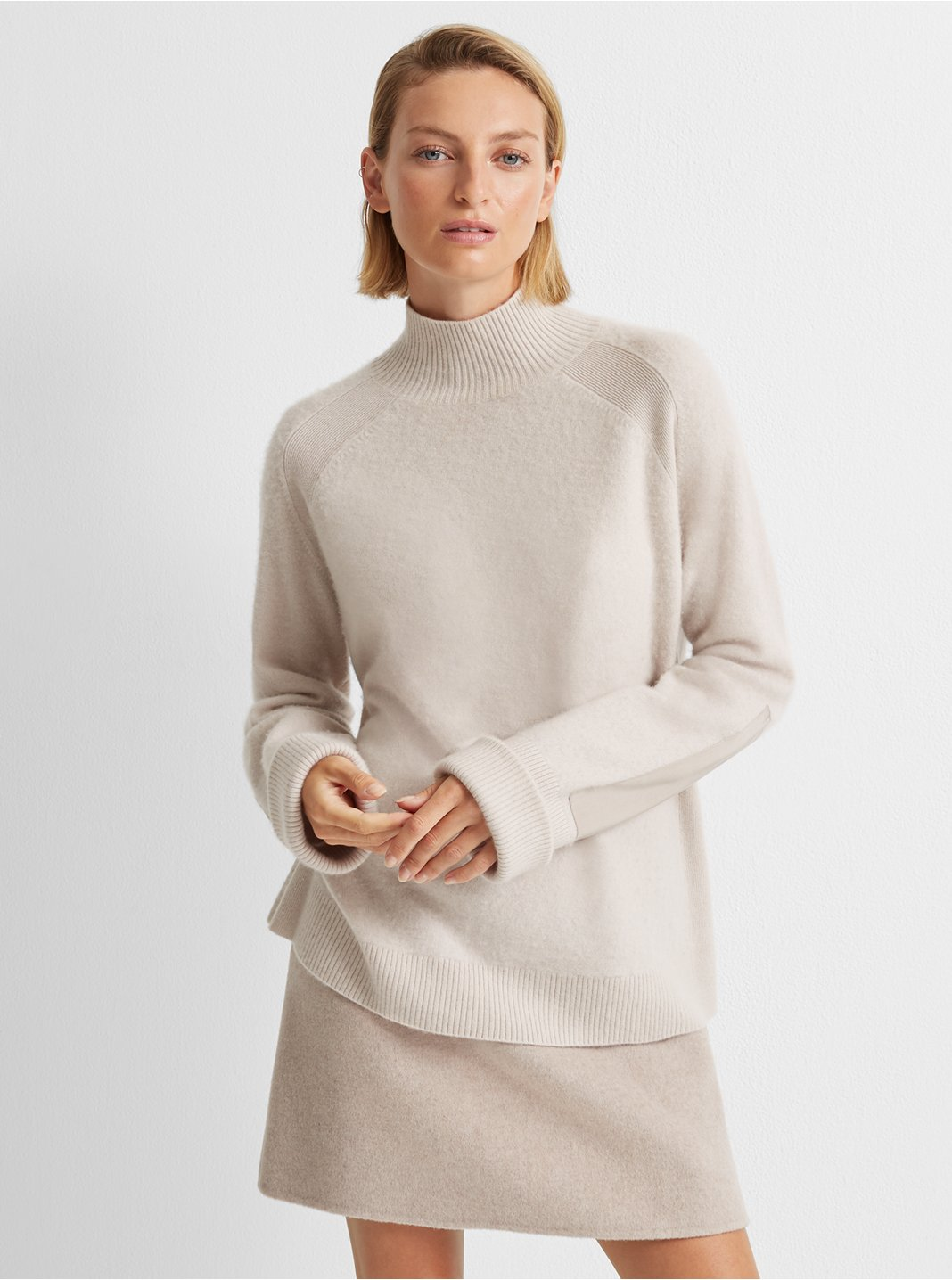 Boiled Cashmere Patch Sweater
