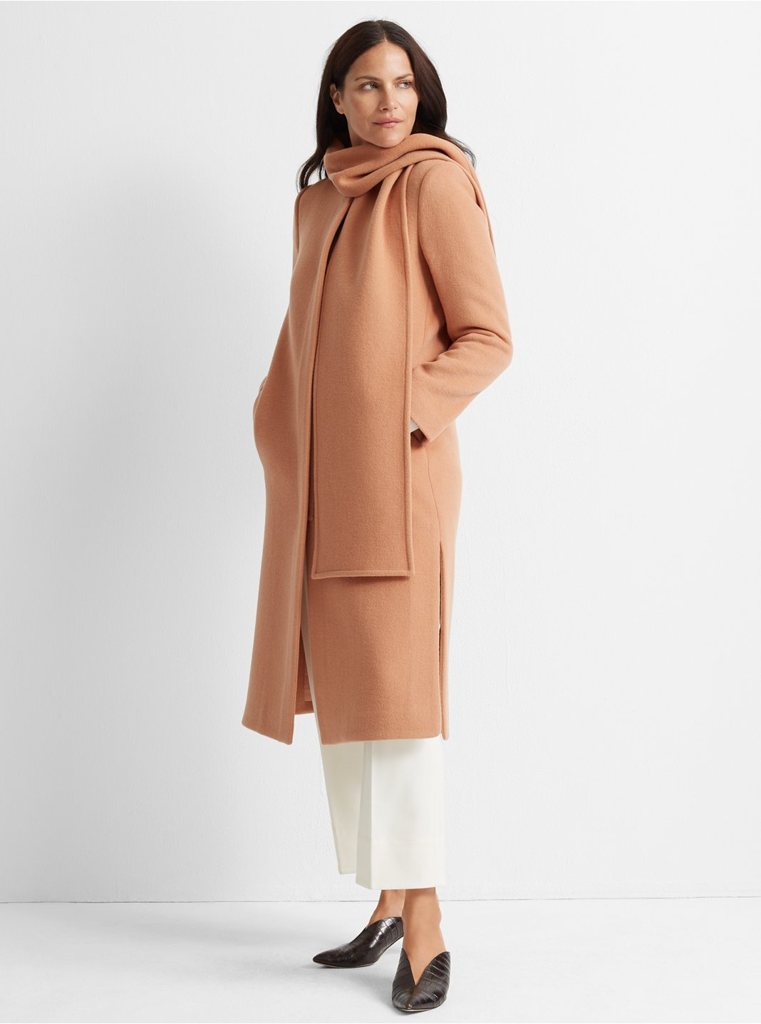 Detachable Scarf Coat