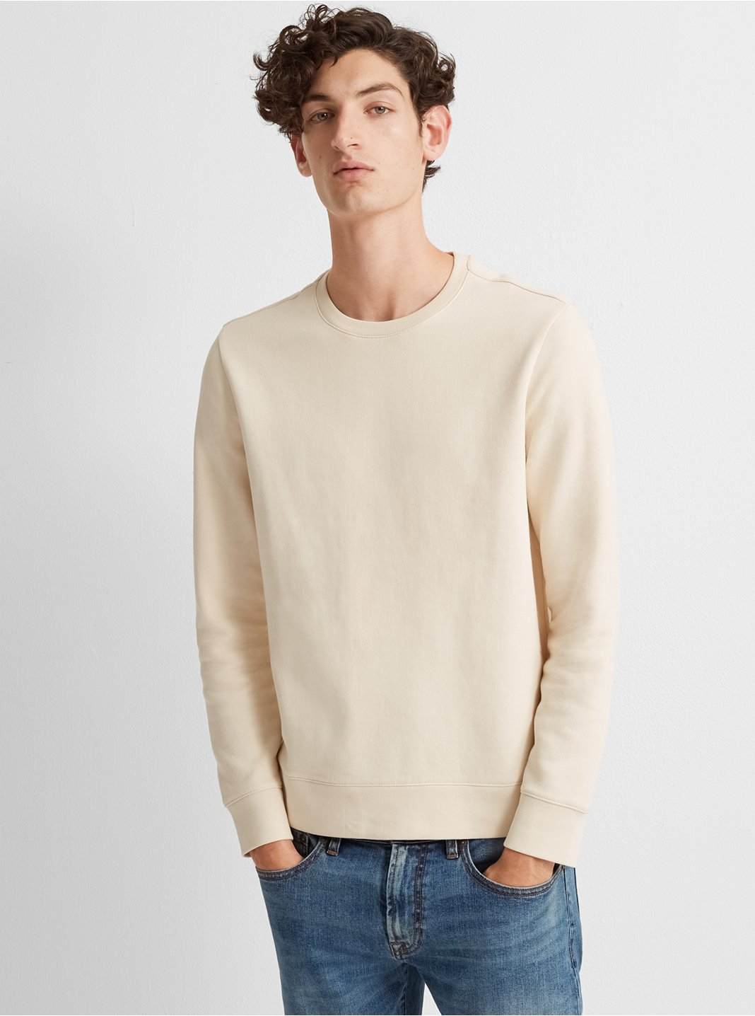 Piece-Dyed Sweatshirt