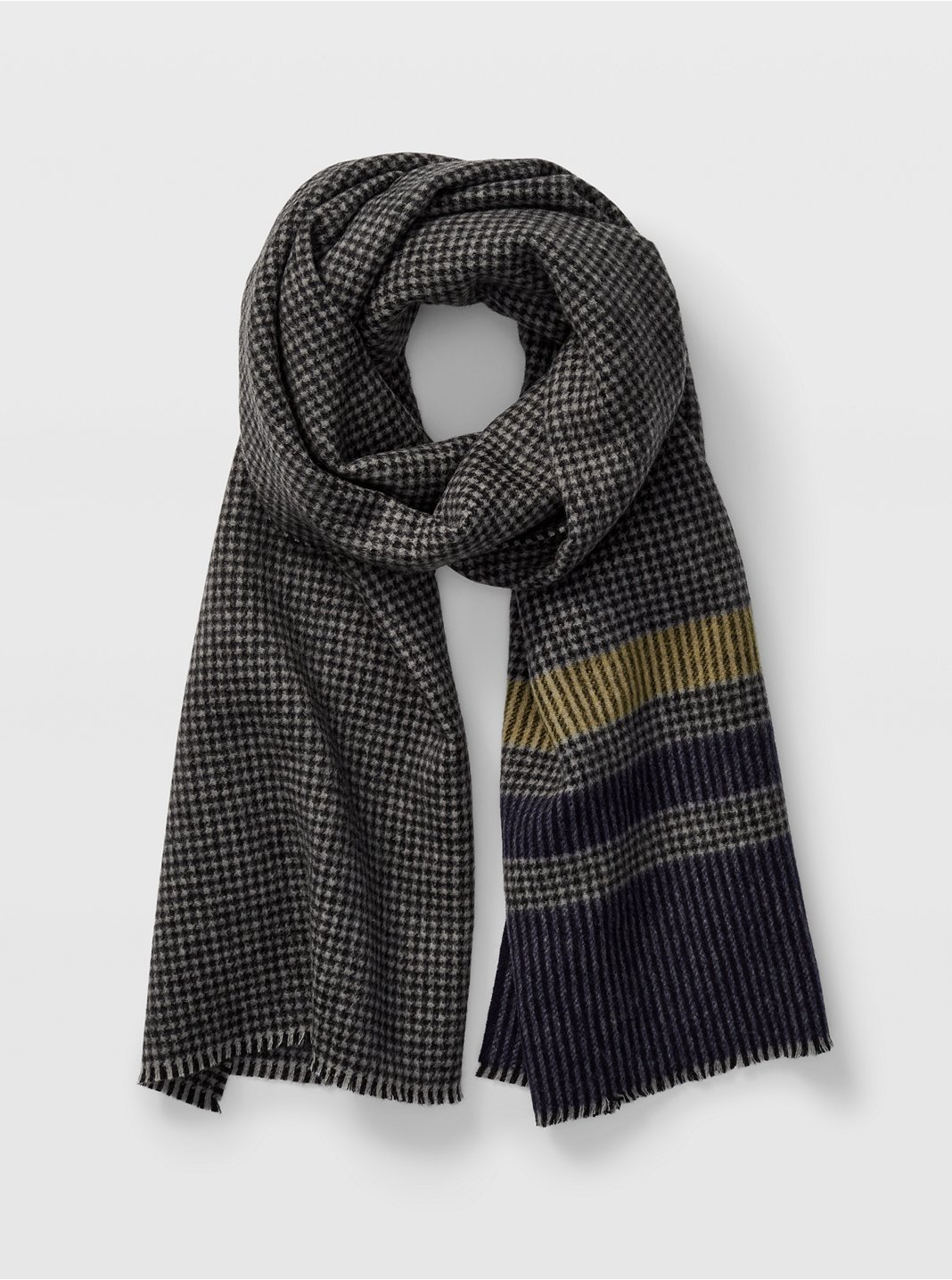 Houndstooth Striped Scarf