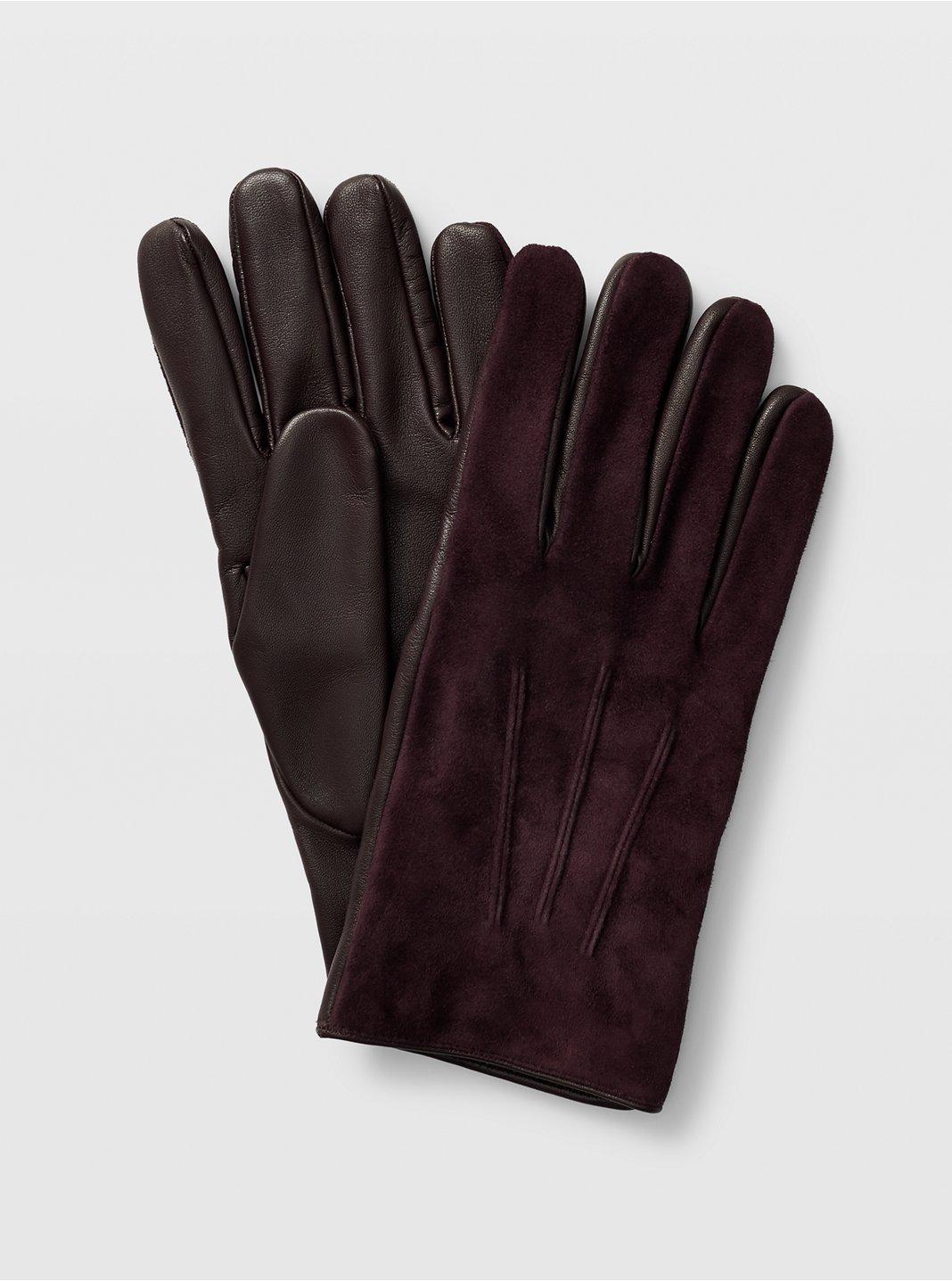 Suede Blocked Glove