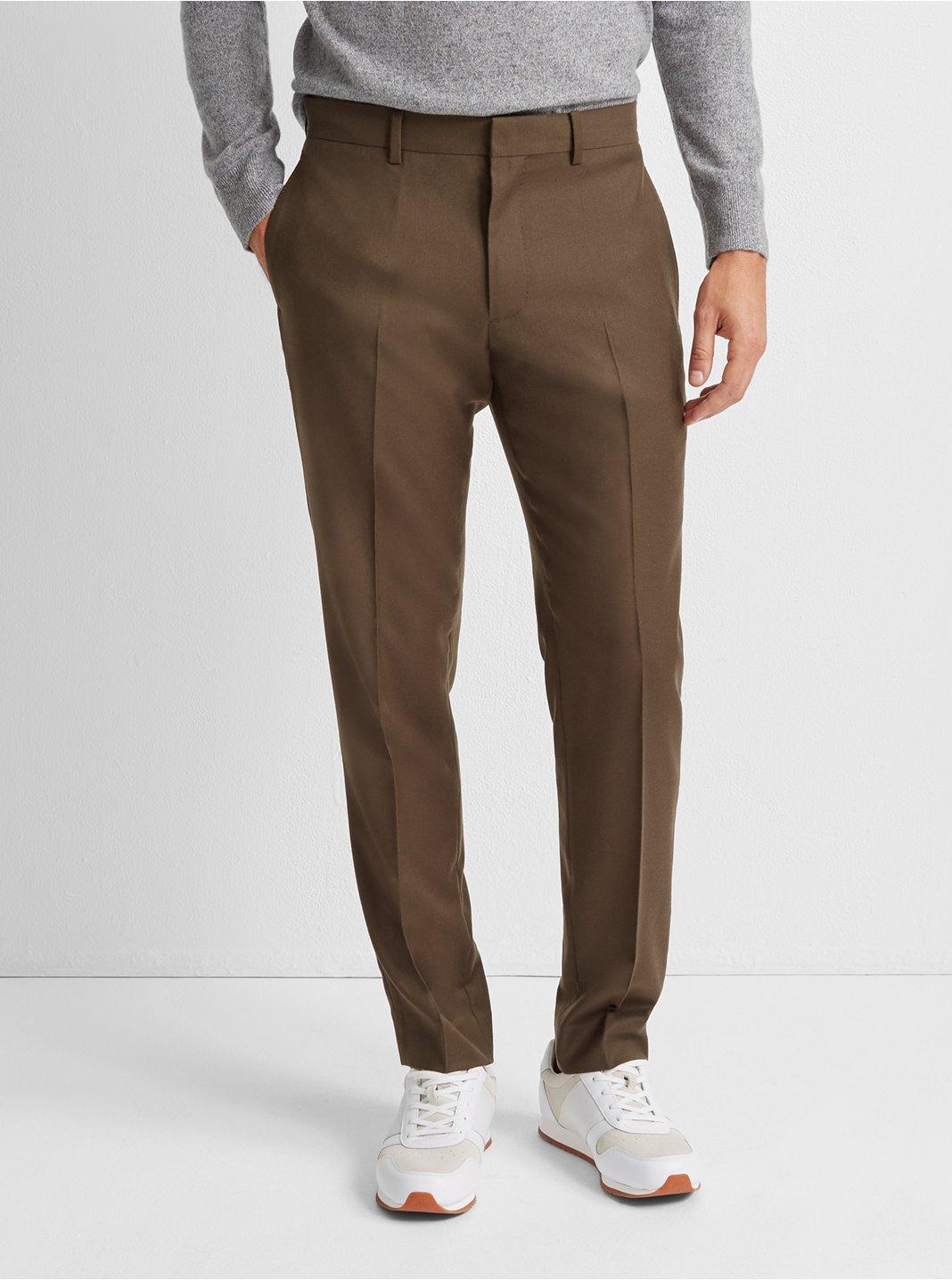 Grant Wool Flannel Trouser