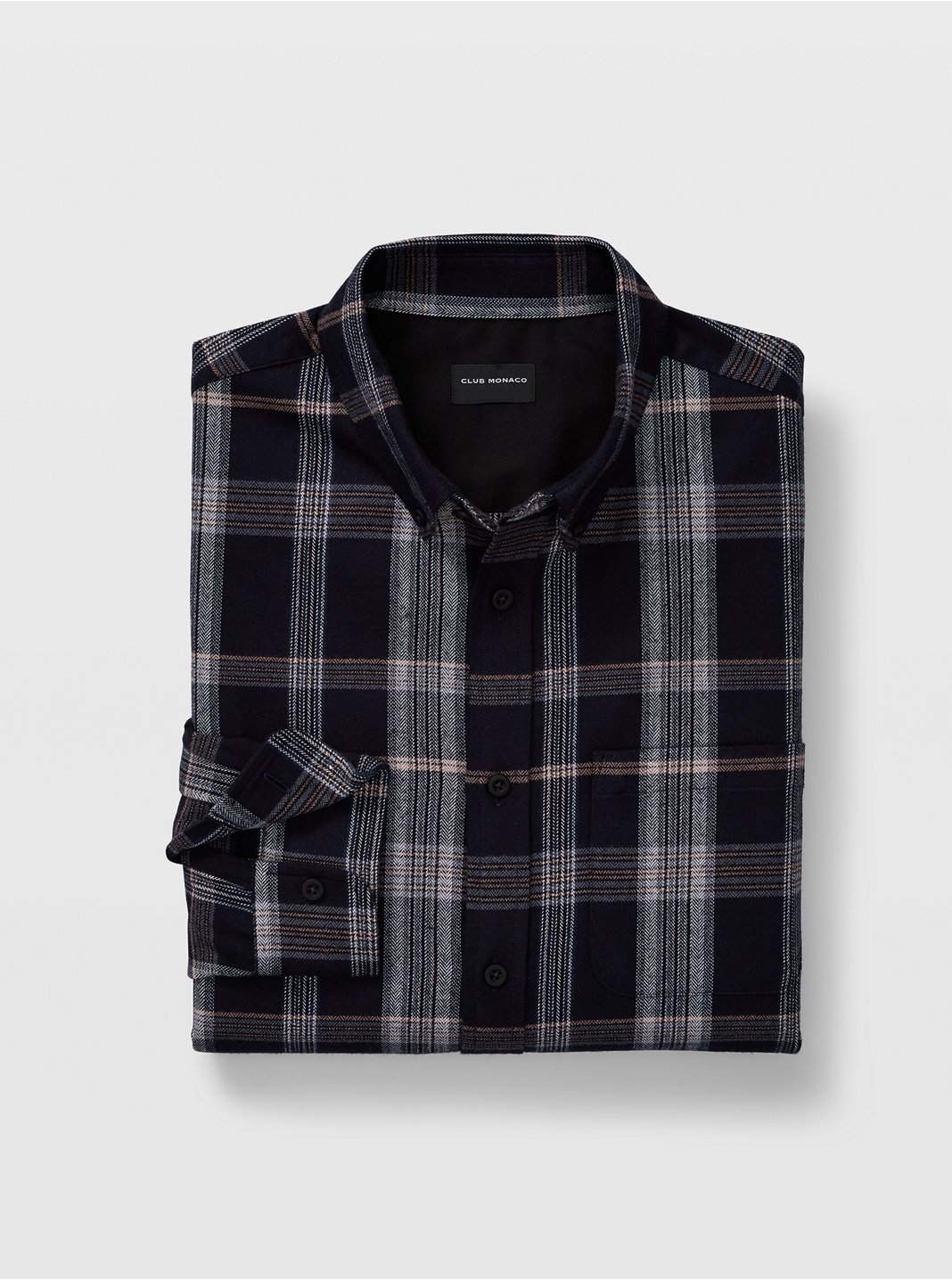 Slim Tonal Plaid Shirt