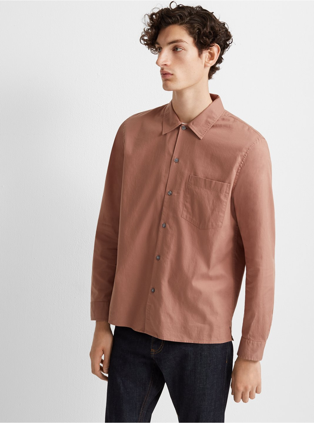 Standard Fit Solid Shirt